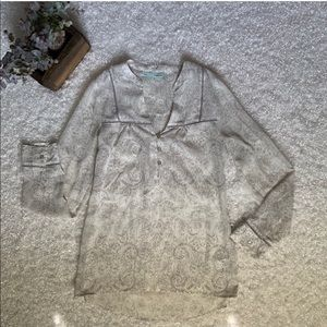 Sm Maurice's 3/4 Sleeve Blouse